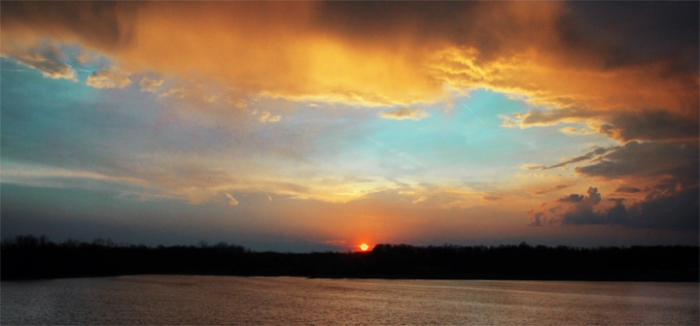 March 22, 2012 Sunset following a small storm