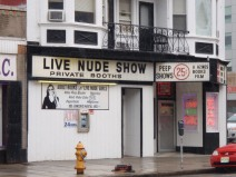 live nude show (look at that woman's face, she is happy to be there)