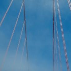 Cool view of part of a big bridge