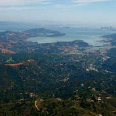 Big View from Mt. Tamalpais, San Francisco is that little clump of buildings about 2 o'clock