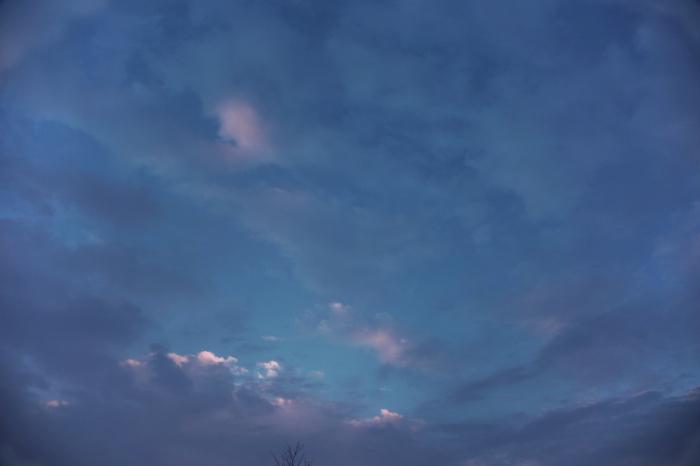 soft evening clouds