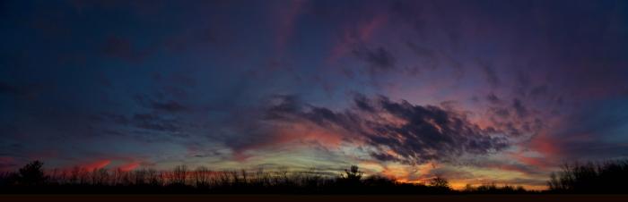 sunset panorama 1.11.13