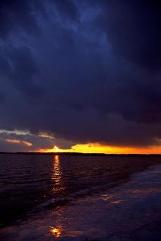 icy sunset