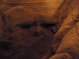 squishy face in a cave wall