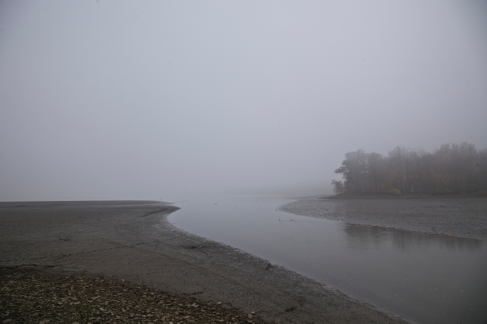 Foggy Hoover Reservoir 10/23/14